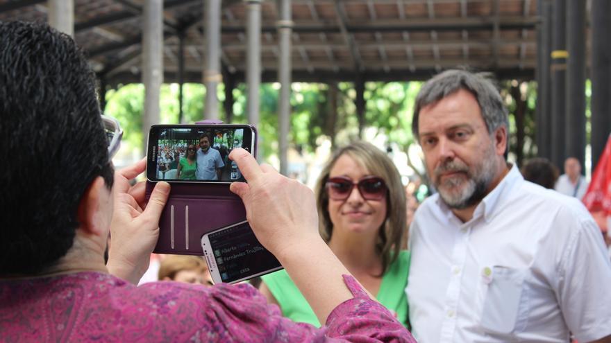 El candidato de Cambiemos Murcia a la alcaldía de la ciudad, Nacho Tornel, en el acto de Ganar / PSS