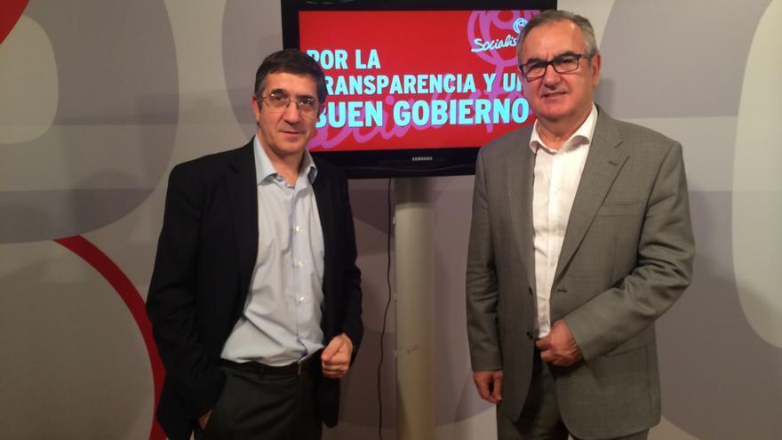 Patxi López y Rafael González Tovar