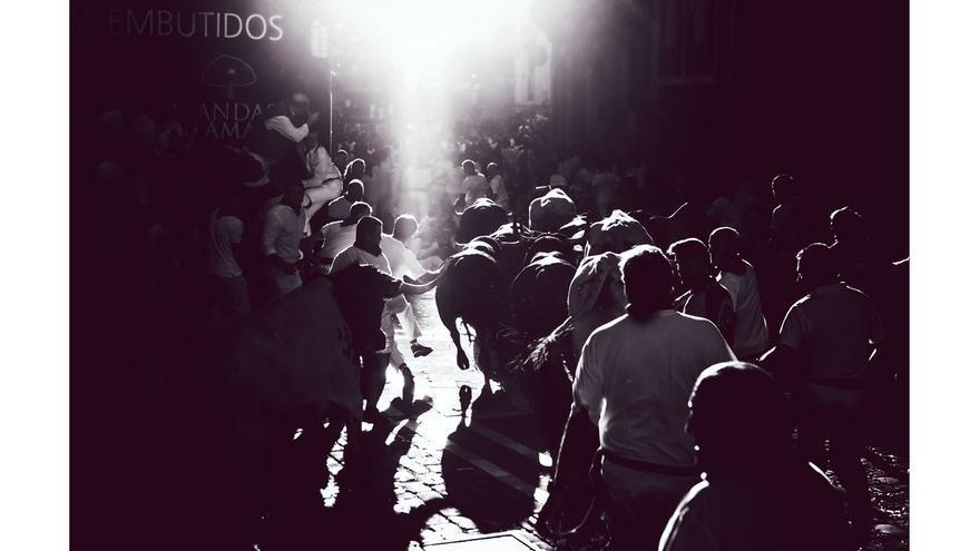 Fotogfrafía ganadora del VII Concurso Internacional de Fotografía del Encierro.