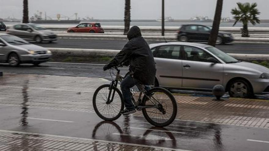 Lluvia temporal canarias enero 2013