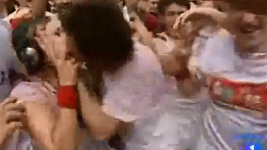 Captura de imagen del especial San Fermín de TVE en 2010. /Fuente:YouTube