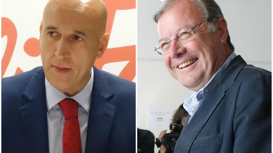 José Antonio Alonso (i) y Antonio Silván (d), candidatos de PSOE y PP a la alcaldía de León