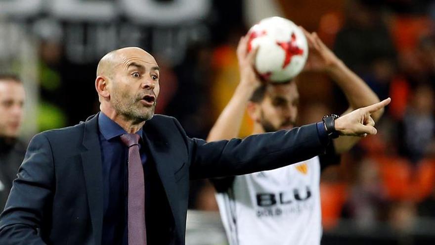 El entrenador de la UD Las Palmas, Paco Jémez. EFE/Kai Försterling