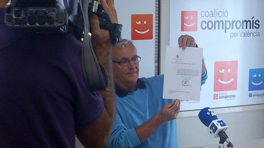 El portavoz de Compromís en el Ayuntamiento de Valencia, Joan Ribó