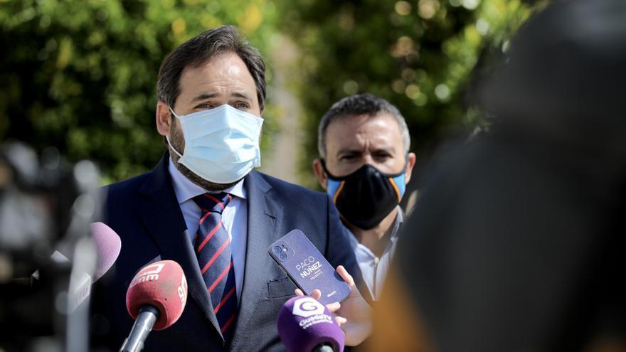 El presidente del PP en Castilla-La Mancha, Paco Núñez, en Alovera