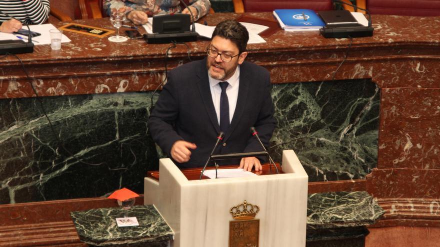 Miguel Sánchez (Cs) durante su intervención en el pleno