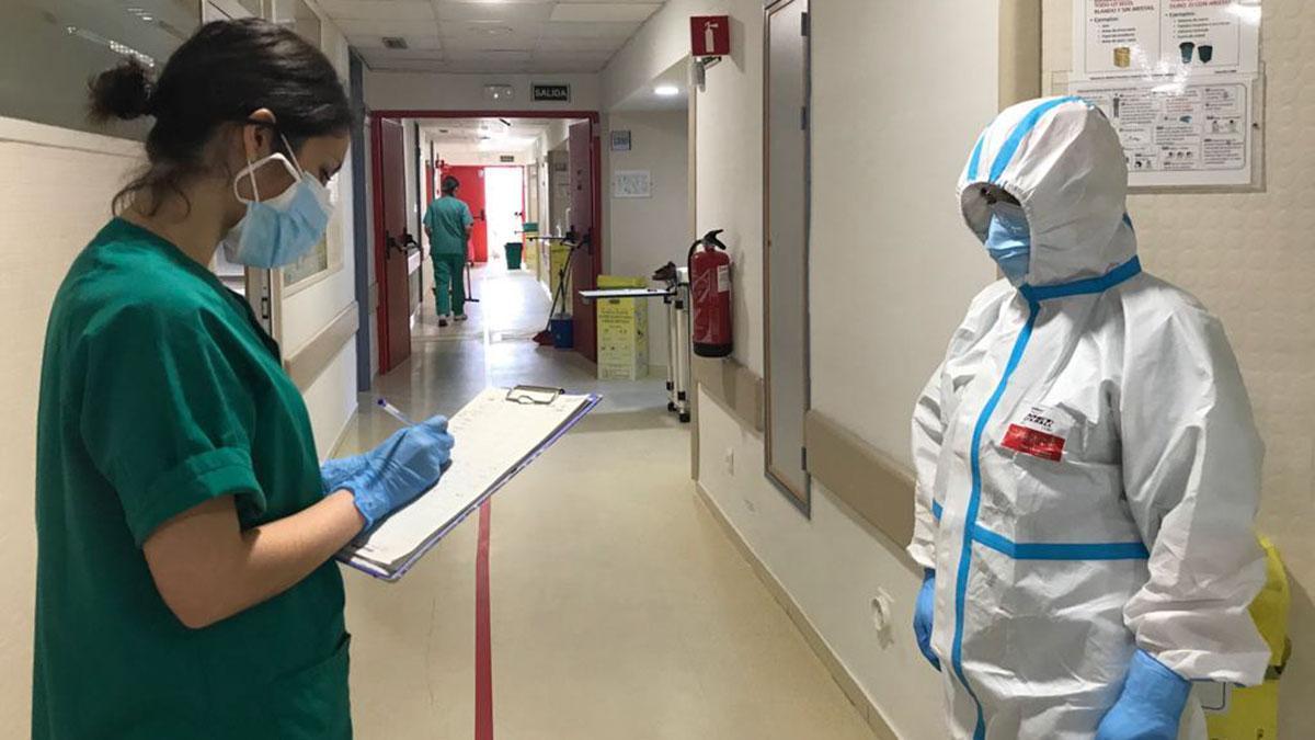Unidad covid en el Hospital Reina Sofia