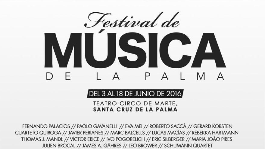Cartel del Festival de Música de La Palma.