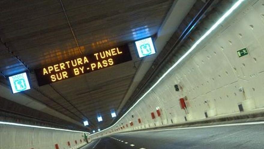 Túnel de la M30. Foto de archivo