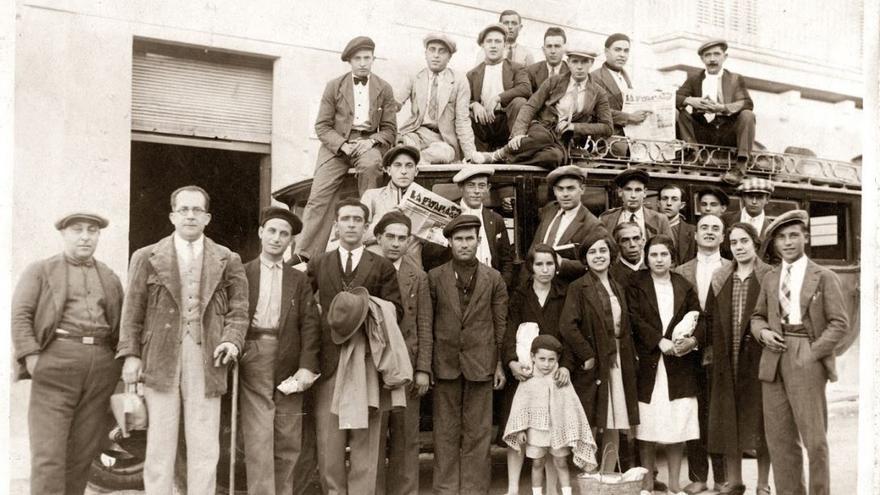 Aurora Picornell y otros militantes comunistas
