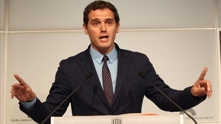Albert Rivera ve una inmoralidad que se diga que el Estado roba a Cataluña