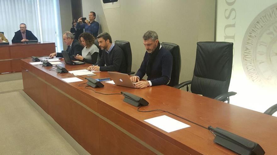 Oscar Urralburu en la última junta de Portavoces de la Asamblea Regional de Murcia