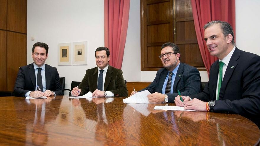 """Ortega Smith avisa de que Cs provocará elecciones en Andalucía si """"torpedea"""" el pacto de PP y Vox"""
