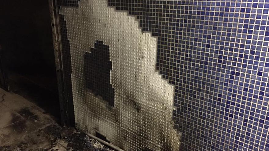 Destrozos en el balneario de Las Canteras