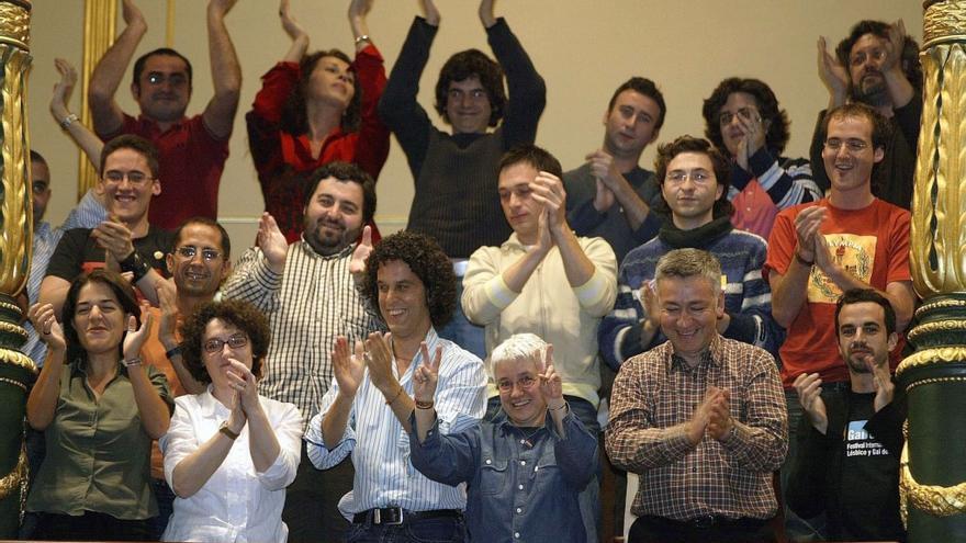Activistas por la liberación LGTB celebraron en 2005 en el Congreso de los Diputados la legalización del matrimonio entre personas del mismo sexo.