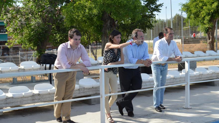Vanessa Veiga con Jesús Labrador en instalaciones deportivas de Toledo / Foto: PP