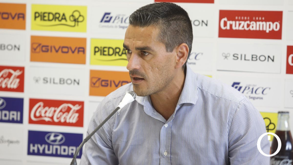 Juanito, en la sala de prensa de El Arcángel