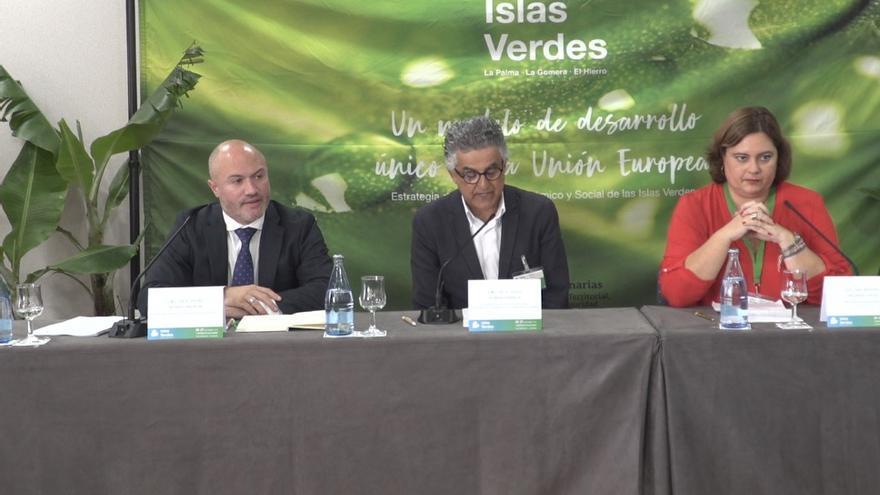Un momento del acto inaugural del Congreso de las Islas Verdes.
