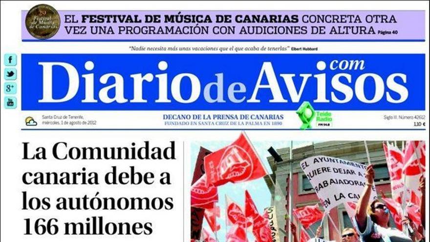 De las portadas del día (01/08/2012) #3