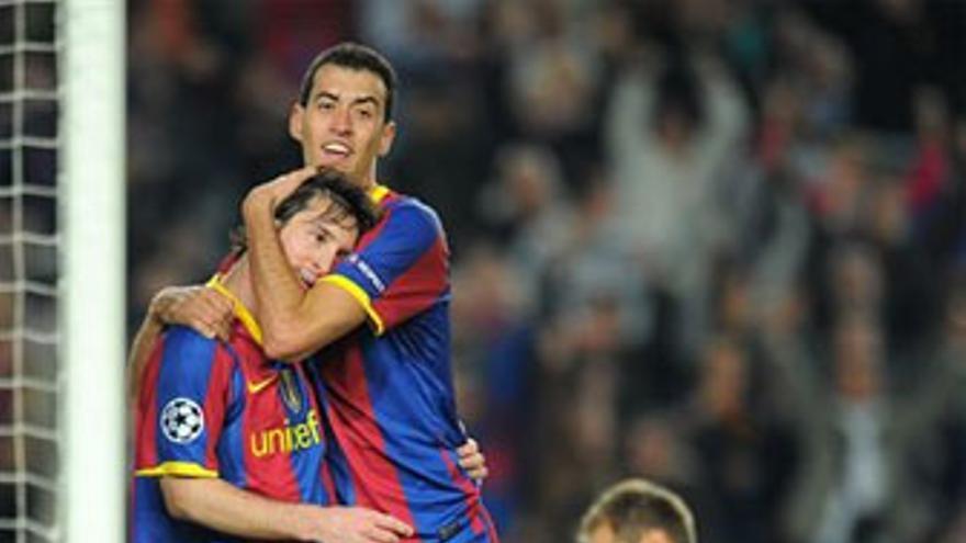 Messi anotó los dos goles del partido.