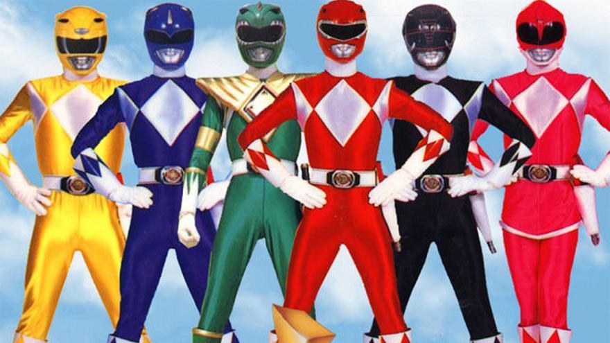 Los Power Rangers, una serie de televisión que tuvo gran tirón mediático en la década de los 90