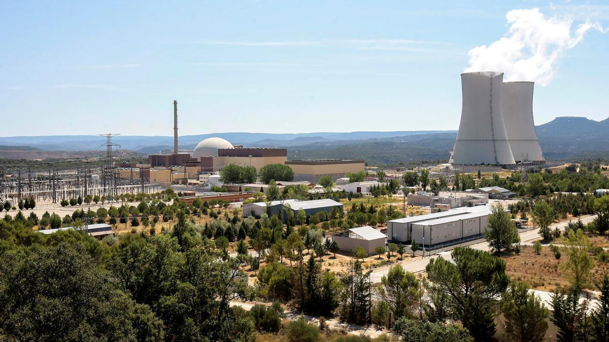 Vista general de la Central Nuclear de Trillo en Guadalajara.