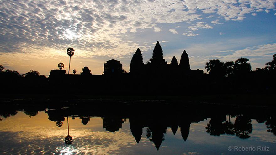 Amanecer en el templo de Angkor Wat, en Camboya