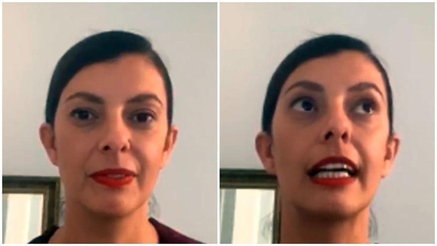 Natalia Álvarez, durante la conversación de Barrio Futuro | SOMOS MALASAÑA