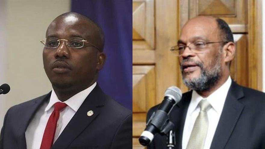 Claude Joseph y Ariel Henry: premier en funciones y premier designado antes del magnicidio. Se disputan la legitimidad del poder.