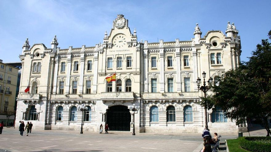 Plaza del Ayuntamiento de Santander.   ARCHIVO