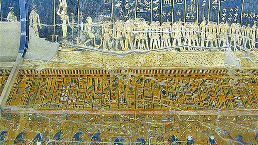 Murales de la Tumba de Seti I una de las más bonitas de todo el antiguo Egipto. Jean-Pierre Dalbéra