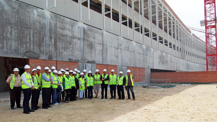 Visita a obras del hospital universitario de Toledo / Foto oficial