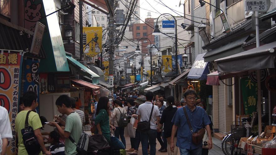 Calle de Yanaka Ginza, principal arteria comercial del barrio de Yanaka. Ian Kennedy