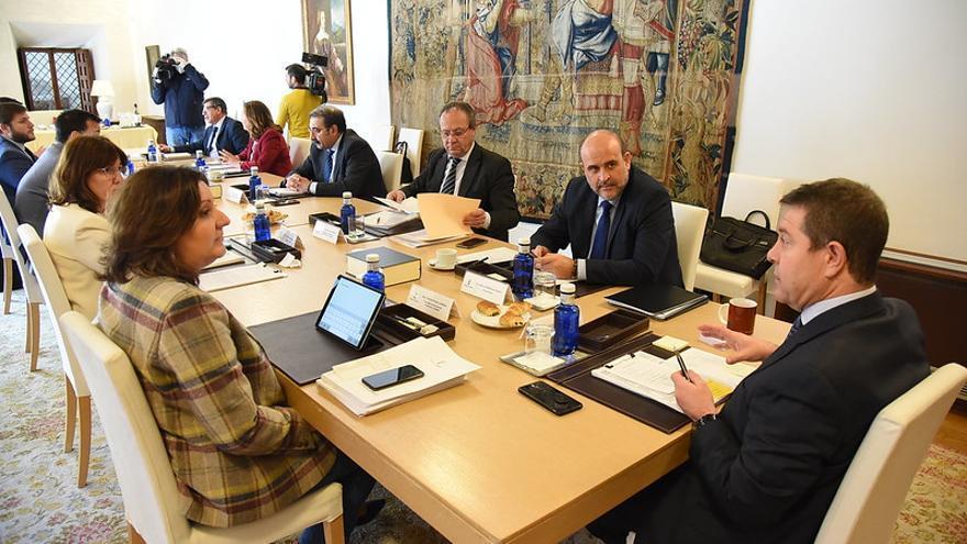 García-Page, hoy, en Consejo de Gobierno