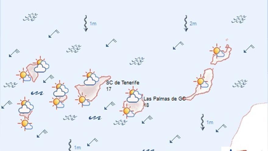 Previsión meteorológica para este jueves. (AEMET)