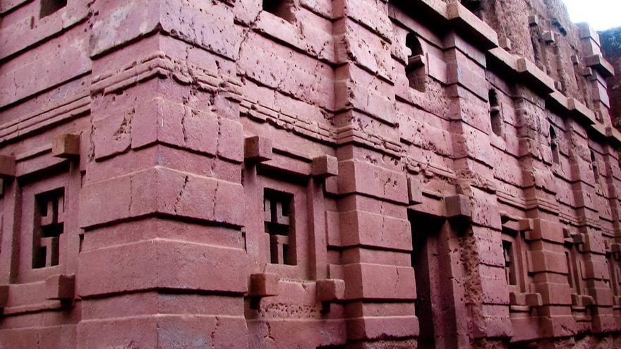 Iglesia de El Salvador de Lalibela, el mayor edificio monolítico del mundo.