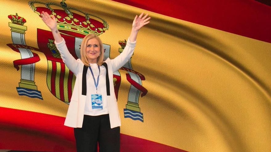 La presidenta de Madrid, Cristina Cifuentes, al ser elegida líder del PP de Madrid.