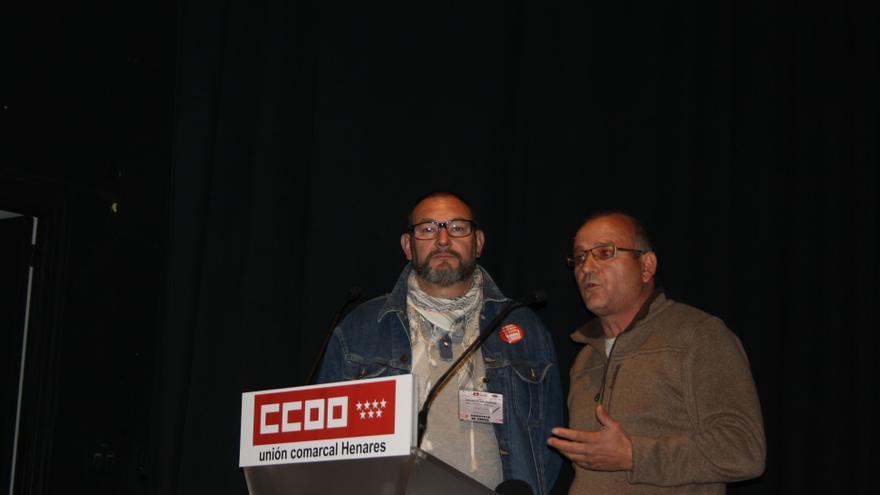 Juan José Álvarez y Pedro Galeno. FOTO: Comisiones Obreras