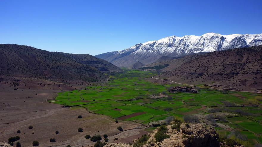Los cultivos prosperan en el Valle de Bouguemez, uno de los más remotos del Atlas marroquí. Pascal Blachier