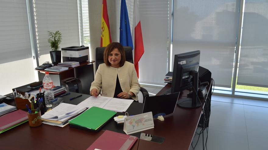 Carmen Díez Marzal en su despacho del Servicio Cántabro de Empleo. | Laro García