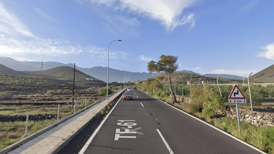 """La carretera principal de Güímar, en nivel de """"máxima peligrosidad"""""""