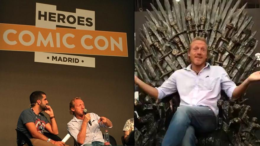 Jerome Flynn en la Héroes Comic Con de Madrid