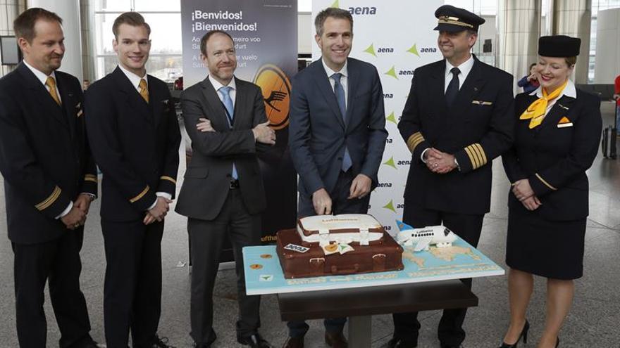 Lufthansa aterriza en Galicia