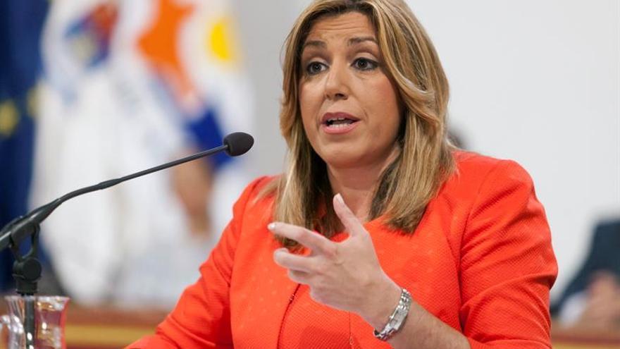 """Susana Díaz ve al PSOE """"en la oposición"""" e insta Rajoy a """"ponerse a trabajar"""""""