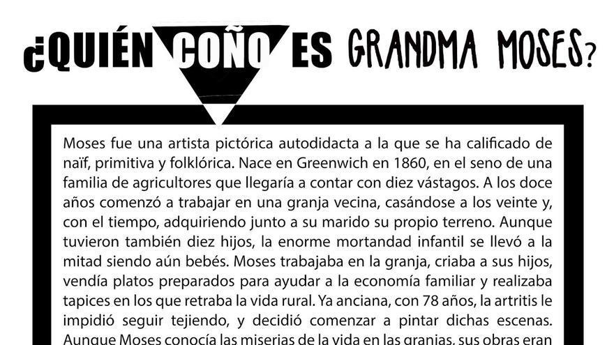 Cartel sobre Grandma Moses