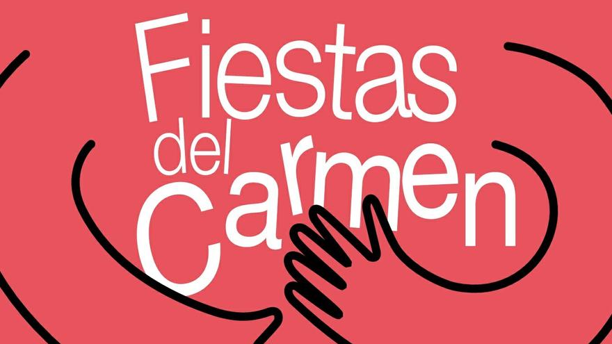 Detalle del cartel de las Fiestas del Carmen 2018 en Chamberí