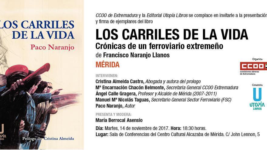 invitación libro Francisco Naranjo Llanos