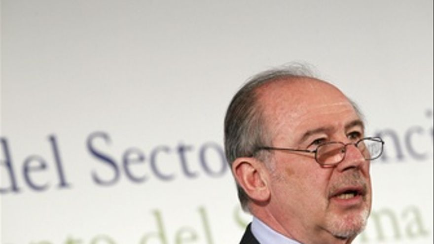 Rodrigo Rato, presidente de Caja Madrid y Bankia