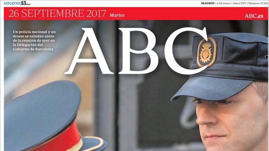 Portada bélica de ABC