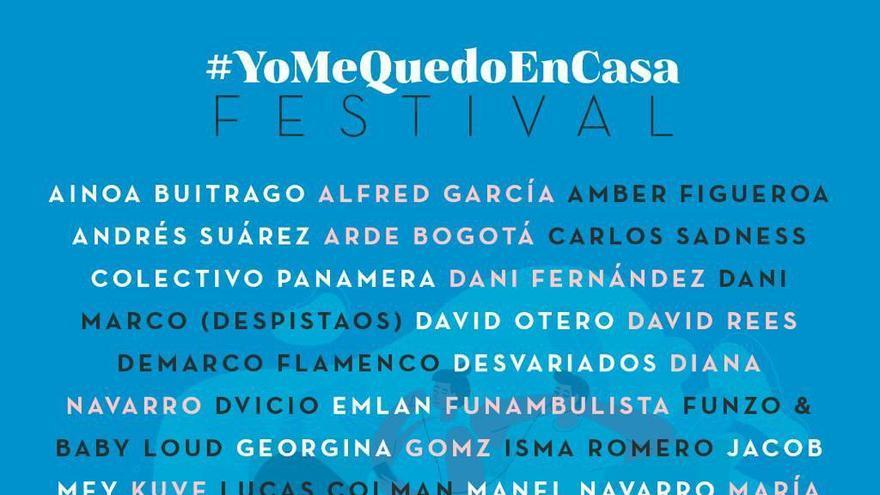 Cartel del #YoMeQuedoEnCasa Festival